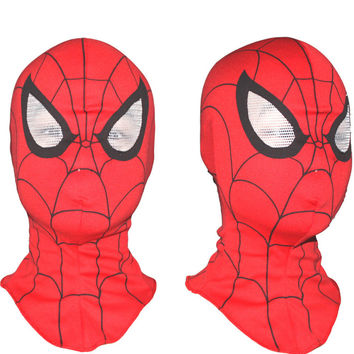 3pcs/lot Super Cool Spiderman Mask Cosplay Hood Party Masks , Full Head Halloween Masks