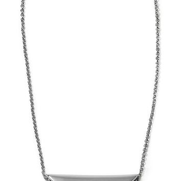 Banana Republic Half Moon Necklace Size One Size - Silver