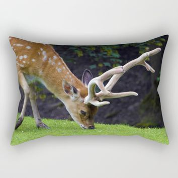 Fallow Deer Rectangular Pillow by Mixed Imagery