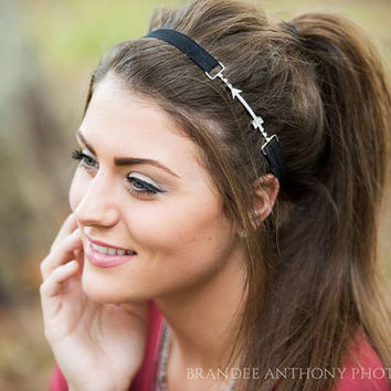 Arrow Headband - Black Arrow Headband - Rhinestone Arrow Headband - Rhinestone Headband - Boho Headband - Festival Headband -Arrow Headbands