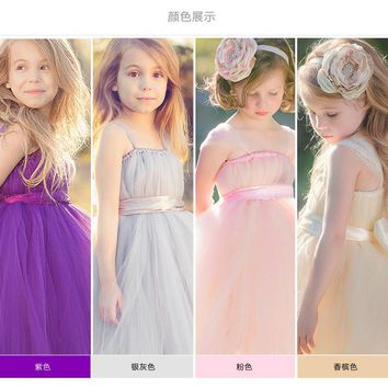 2016 Brand New Flower Girl Dresses White/Ivory Real Party Pageant Communion Dress Little Girls Kids/Children Dress for Wedding