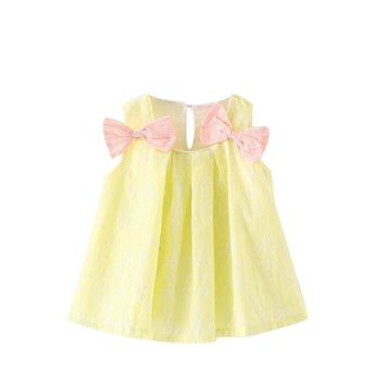 Baby Girls Bowknot summer dress