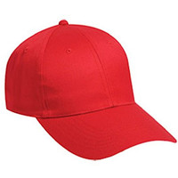 Hats & Caps Shop Cn Twill Long Visor Low Profile Pro Style Caps - Red - By TheTargetBuys