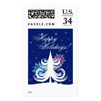Happy Holidays elegant Postage