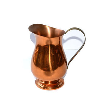 Copper Pitcher Copper Drink Pitcher Coppercraft Guild Moscow Mules Copper Water Pitcher Copper Drinkware Copper Barware Copper Home Decor