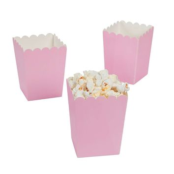 Light pink popcorn boxes