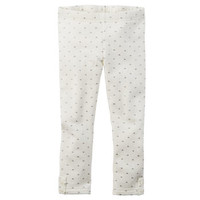Heart Print Fleece Leggings
