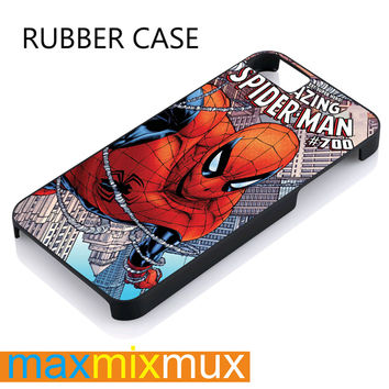The Amazing Spyderman iPhone 4/4S, 5/5S, 5C, 6/6 Plus Series Rubber Case