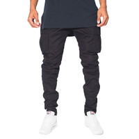 Golden Denim The Legend Cargo Pants In Black