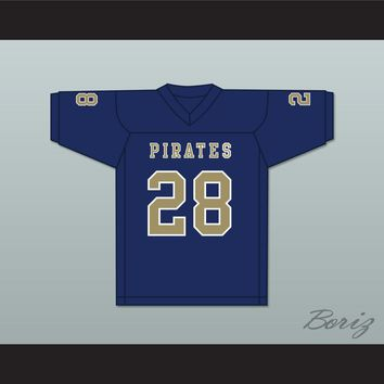 Jamal Scott 28 Independence Community College Pirates Dark Blue Football Jersey