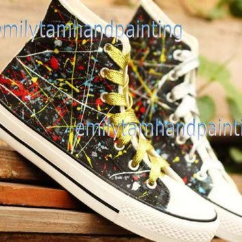 CREYONB Graffiti Converse Sneakers,Custom Converse, Fashion Shoes in Punk Rock Style