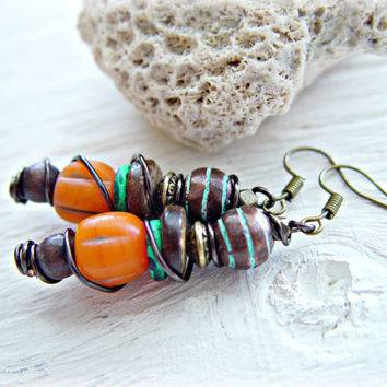 Boho Jewelry - Boho Hippie Earrings - African Earrings - African Jewelry - Yoga Jewelry - Tribal Earrings - Ethnic Earrings