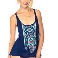 Tribal Detailed Flow Fit Top