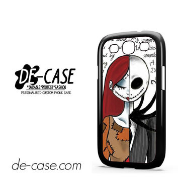 The Nightmare Before Christmas Quotes For Samsung Galaxy S3 Case Phone Case Gift Present YO