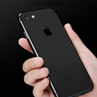 NEW Clear TPU Coque Fundas Phone Cases for iPhone 7 6S 6 Plus 5S 5 SE Gel Soft Crystal Jet Black Transparent Skin Cover Caso