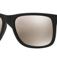NEW RAY BAN SUNGLASSES RB4165 622/5A BLACK - Grey Mirror Lens