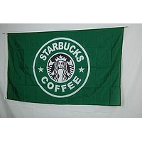 Promotion advertising decoration franchise Starbucks cofee shop 3x5 Flag Banner