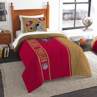 San Francisco 49ers NFL Twin Comforter Set (Soft & Cozy) (64 x 86)