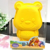 Disney Winnie the Pooh Silicone Muffin Cake Chocolate Jelly Cup Yellow Pan Mold Mould