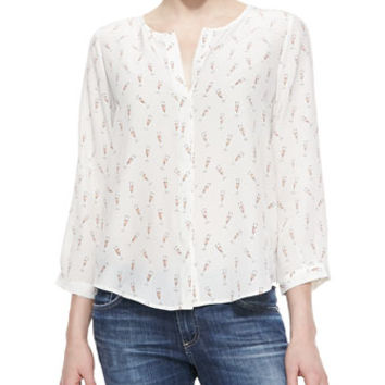 Joie Purine Champagne Flute-Print Blouse