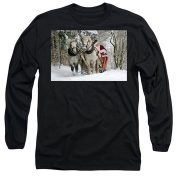 Santa Sleigh With Horses - Long Sleeve T-Shirt