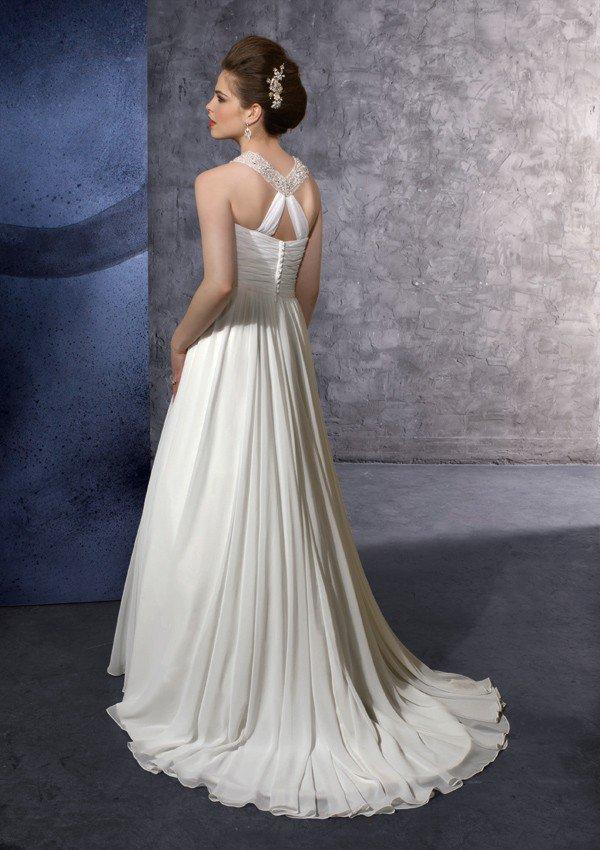 Buy Delicate Chiffon with Embroidery Scoop A Line Floor Length Gown Style 6606 , from  for $146.16 only in eFexcity.com.