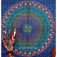 Intricate Mandala Tapestry Multi color Hippie Wall Hanging