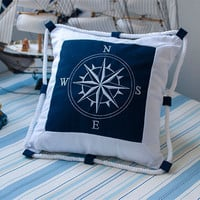 Mediterranean Sea Style Cushion Home Decor [6282377670]