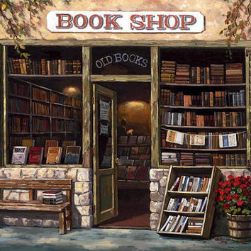 Book Shop - Counted cross stitch pattern in PDF format