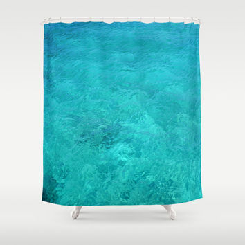 Clear Turquoise Water Shower Curtain by Lena Photo Art