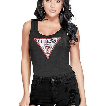 Triangle Logo Bodysuit at Guess
