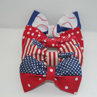 American Inspired Hair Bow - Each Sold Separately and will arrive to you before the 4th of July