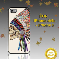 Death Skeleton Side Head - Photo on Hard Cover - For iPhone Case ( Select An Option )