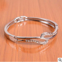 Shiny Awesome Gift New Arrival Great Deal Hot Sale Luxury Korean Stylish Diamonds Bangle Alloy Ladies Bracelet [6573072775]