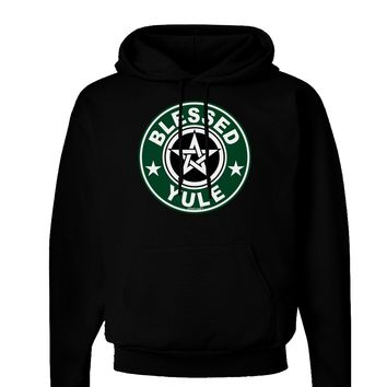 Blessed Yule Emblem Dark Hoodie Sweatshirt by