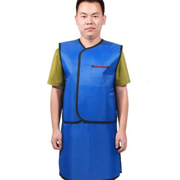 "43"" L 23"" W Lead Apron Velcro Closure Vest And Skirt Combo for X-Ray MRI CT Radiation Protection 15451"