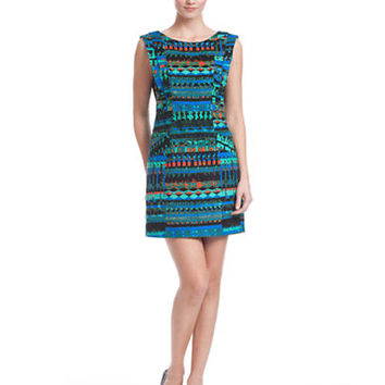 Plenty By Tracy Reese Mixed Print Cap Sleeve Dress