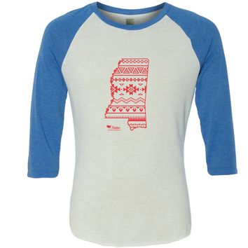 MS Simple Aztec Red Baseball Tee