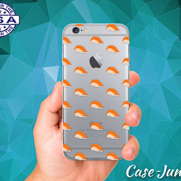 Sushi Pattern Food Salmon Fish Rice New Case For iPhone 5 iPhone 5C iPhone 6 iPhone 6s iPhone 6s Plus and iPhone SE iPhone 7 Plus Clear Case