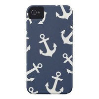 Preppy Nautical Anchor  IPHONE 4 4S Case Cover Tough Iphone 4 Cases from Zazzle.com