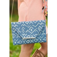 What's In The Envelope Clutch-Blue