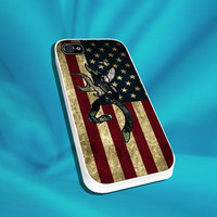 Browning Deer American Flag For iPhone 4/4s,5/5s/5c, Samsung S3,S4,S2, iPod 4,5, HTC ONE
