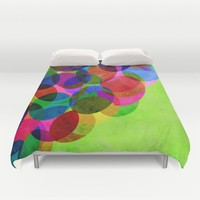Up Duvet Cover by Miss L In Art