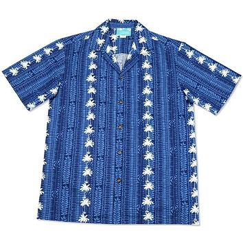 cabana blue hawaiian cotton shirt