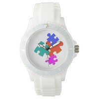 """Random Pieces"" Abstract Watch"