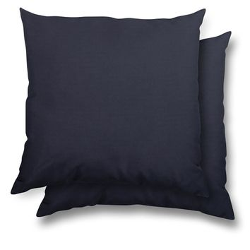 stratford home 17x17 Indoor/ Outdoor Toss Pillows, Sunbrella Canvas Fabric, Set of 2 (Navy)