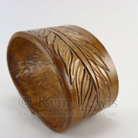 Feather Wrist Cuff Durable 8 oz Leather Hand Made in USA