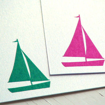 flat cards sail boat personalized notecards sailboat thank you cards wedding thank you notes bridesmaids gifts nautical birthday