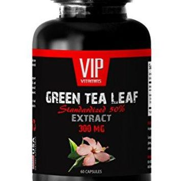 Weight loss fat burner for women - GREEN TEA LEAF EXTRACT - Green tea vitamins for weight loss - 1 Bottle 60...