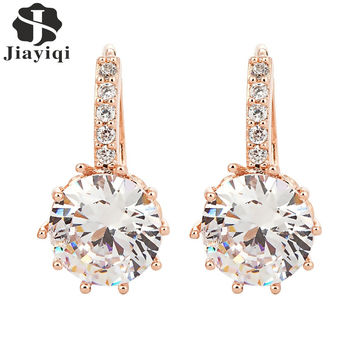 Vintage Cuff Clip Statement Drop Earrings Charming Crystal Bling Earrings for Women Fine Jewelry Summer Style